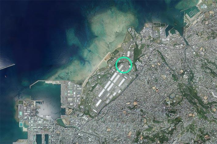 航空写真(衛星地図)のポインティングの悪い例